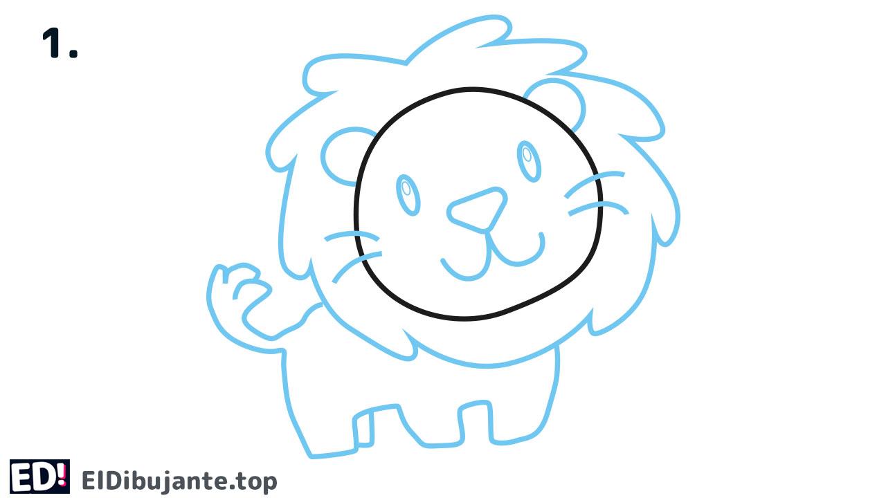 Como dibujar un leon facil paso a paso
