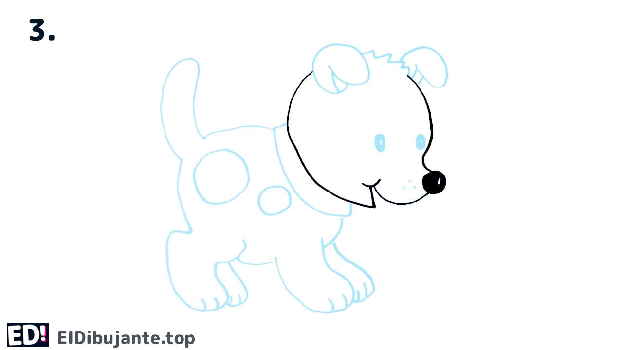 como dibujar un perro facil paso a paso a lapiz