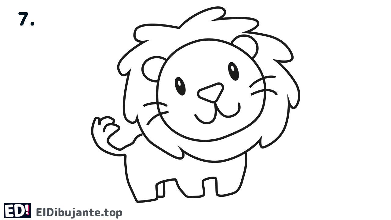 como dibujar un leon paso a paso