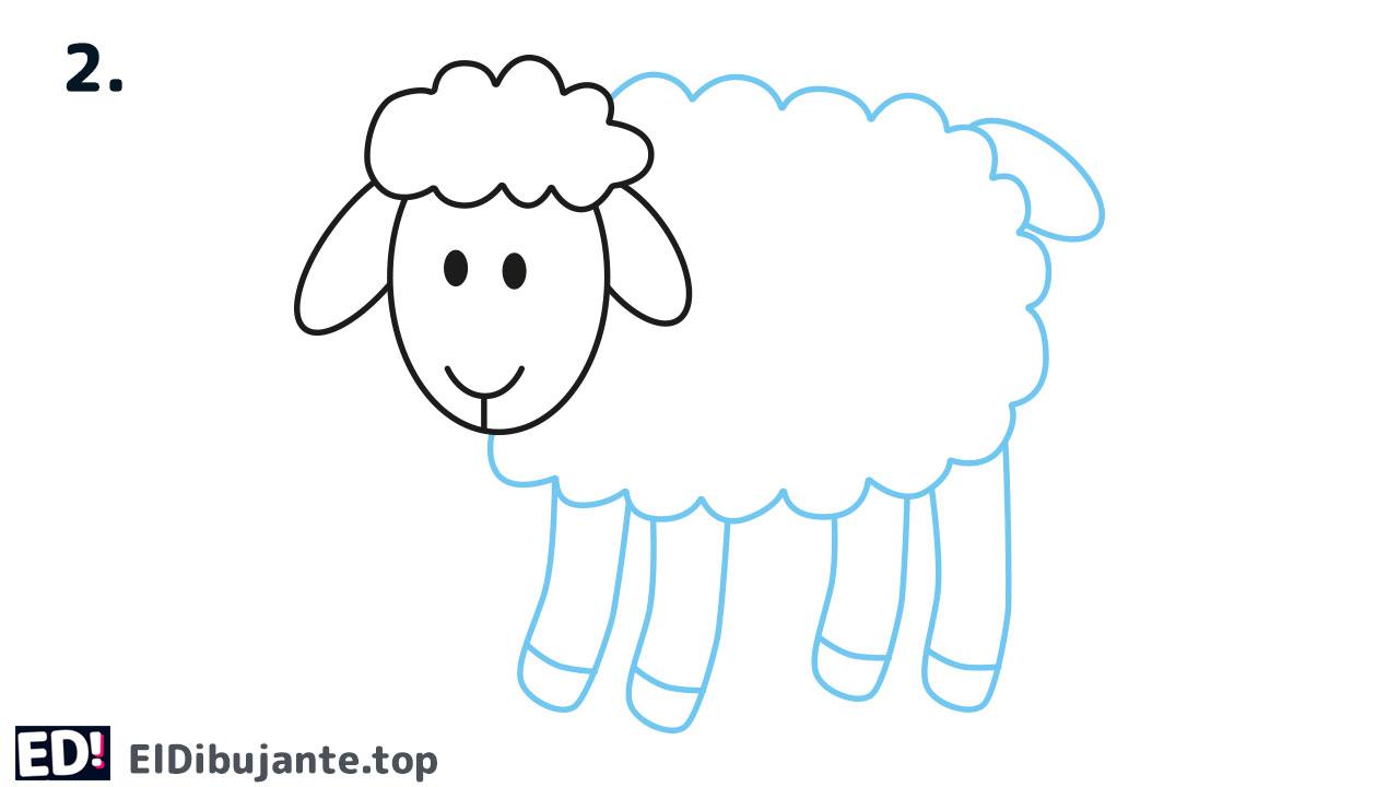 como dibujar la cabeza de una oveja