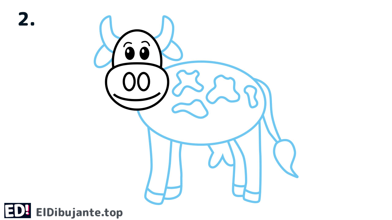 como dibujar una vaca