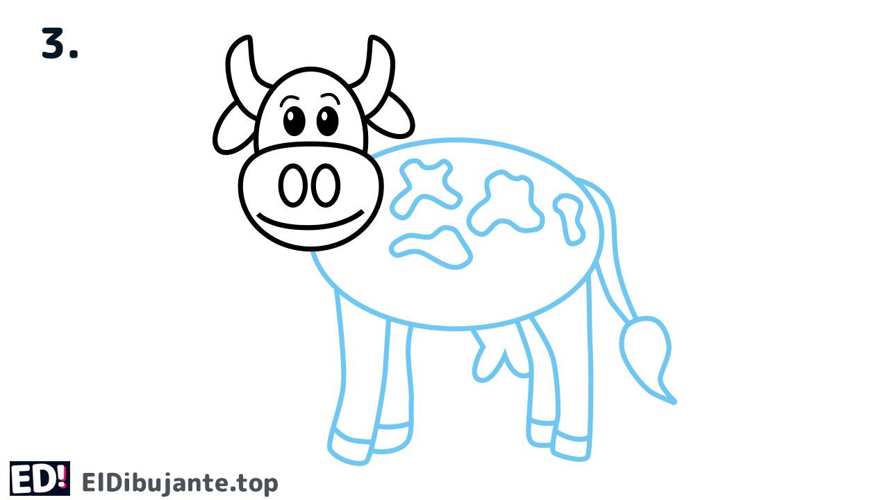 como dibujar una vaca facil