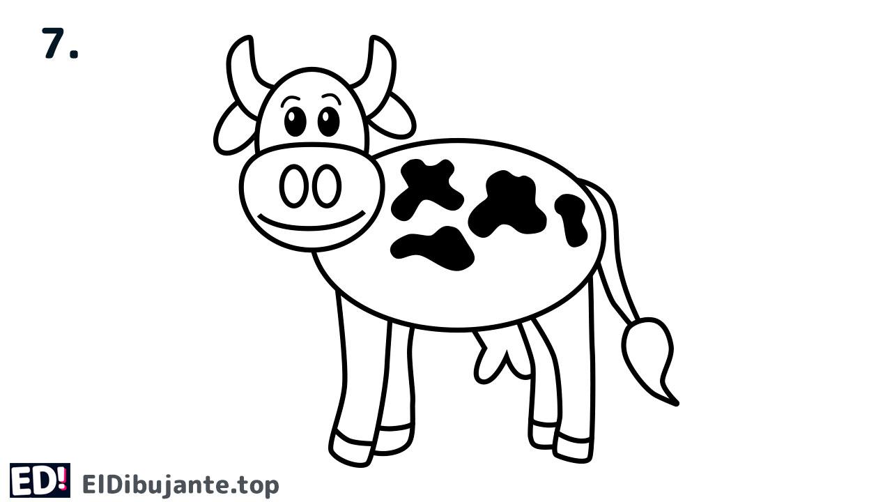 como dibujar una vaca paso a paso