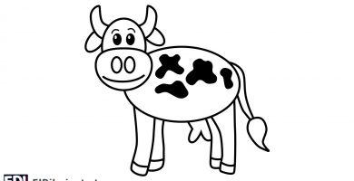 como dibujar una vaca facil paso a paso