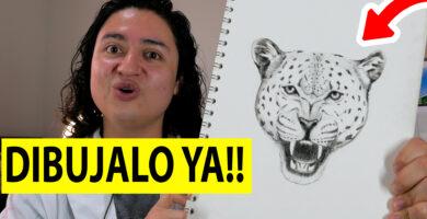 Dibujar un leopardo a lápiz