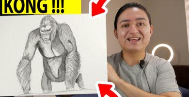 Cómo dibujar a kong a lápiz