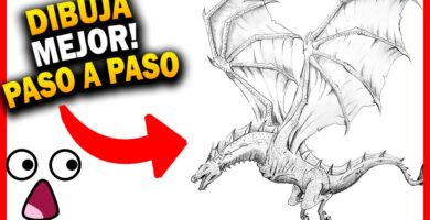 como dibujar un dragon realista a lapiz paso a paso
